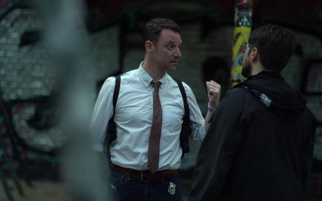 Off Duty Peter Seaton-Clark als Detective Adams & Donovan Cerminara als Jake (c) Florian Dedio & BBHP