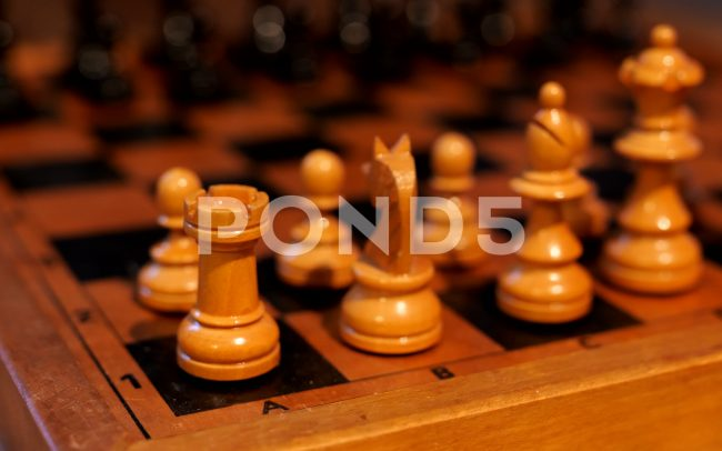 Stock footage still of chess pieces