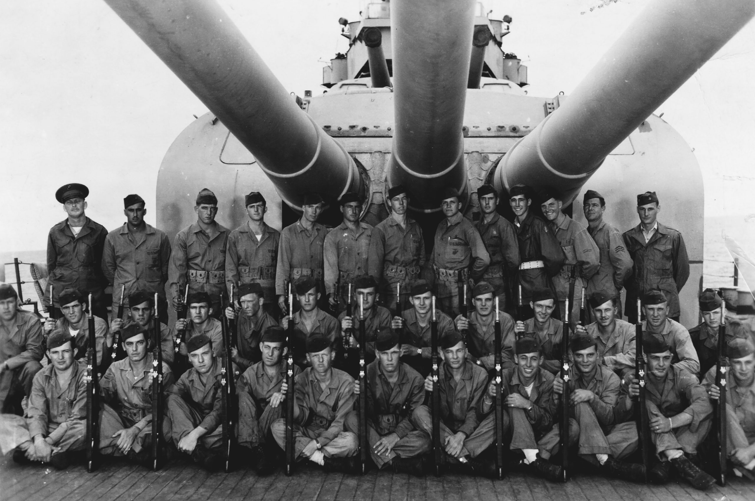 Sailors aboard USS Indianapolis